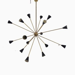 Large 16-Branch Italian Sputnik Chandelier, 1950s