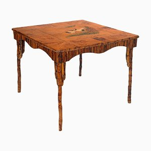 Art Deco Lacquered Bamboo Table
