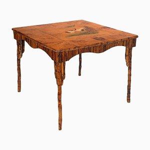 Mesa Art Déco de bambú lacado