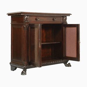 Renaissance Style Carved Walnut Display Cabinet, 1920s