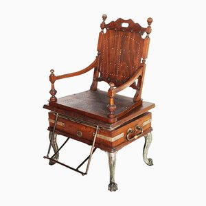 Antique Viennese Steam-Operated Massage Armchair by Josef Florenz, 1880s