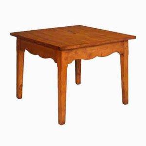 Tavolo da pranzo quadrato Art Déco in legno di larice massiccio, anni '20