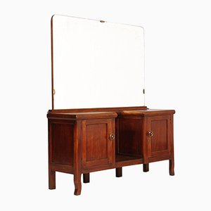 Art Deco Walnut Entry Table or Dressing Table, 1930s