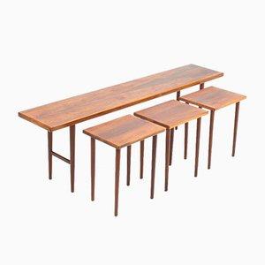 Mesas nido Mid-Century de palisandro de Kurt Østervig para Jason furniture, años 50