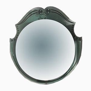 Glass Wall Mirror by Pietro Chiesa for Fontana Arte, 1940s