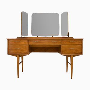 Mid-Century Vintage Walnut Dressing Table by Alfred Cox