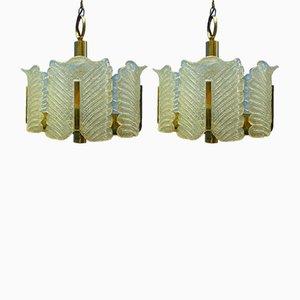 Deckenlampen von Carl Fagerlund für Orrefors Sweden, 1960er, 2er Set