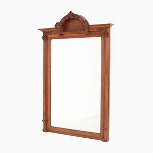Großer französischer Spiegel mit Rahmen aus Eiche im Jugendstil, 1900er