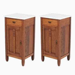 Art Nouveau Oak Nightstands by H. Pander & Zonen, 1900s, Set of 2