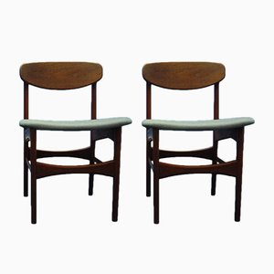 Stühle aus Teak von Arne Hovmand Olsen für Jutex, 1950er, 2er Set