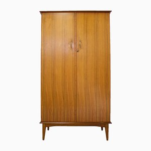 Mid-Century Walnut Wardrobe by Alfred Cox for Austinsuite, 1950s