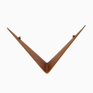 Teak Butterfly Wall Shelves by Poul Cadovius for Cado, 1960s, Set of 3