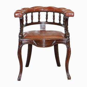 Antike viktorianische Chesterfield Stühle, 2er Set