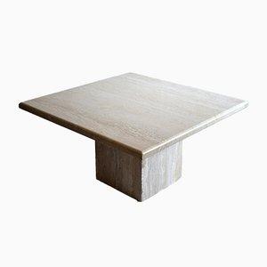 Tavolino Mid-Century in travertino, anni '70