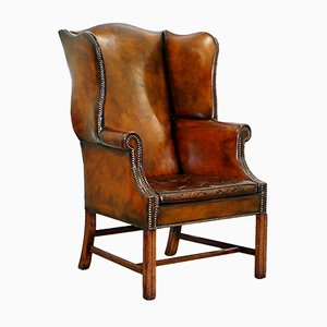 Georgian Wingback Chairs, 1820s, Set of 2