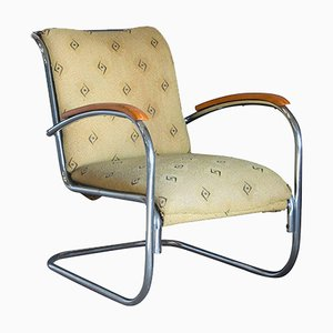Vintage Tubular Steel Easy Chair by Paul Schuitema, 1930s