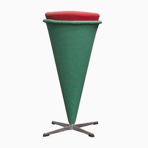 Tabouret Haut Cone par Verner Panton pour Rosenthal, 1958