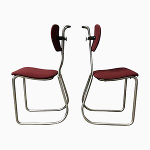 Dutch Typist Chairs from Gispen, 1932, Set of 2