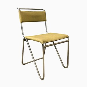 Yellow Faux Leather 102 Diagonal Chair from Gispen, 1927