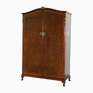 Large Burr Walnut Wardrobe, 1930s