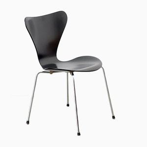 Model 3197 Series 7 Black Chair by Arne Jacobsen for Fritz Hansen