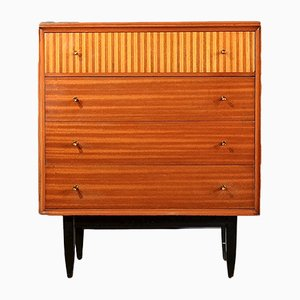 Vintage Teak & Beech Chest of Drawers, 1960s