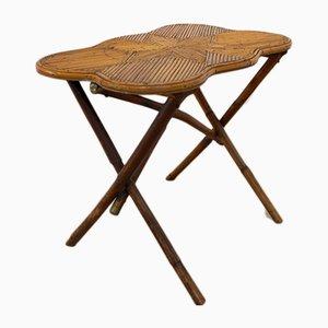 Table d'Appoint en Bambou avec Étoile Incrustée, Pays-Bas, 1950s