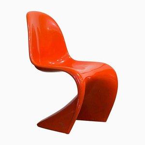 Orangefarbene Stapelstühl von Verner Panton für Herman Miller, 1965
