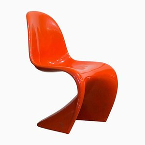 Stapelbarer orangener Stuhl von Verner Panton für Herman Miller, 1965