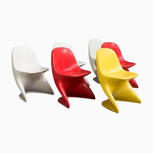 German Casalino Children's Chairs by Alexander Begge for Casala, 1977, Set of 5