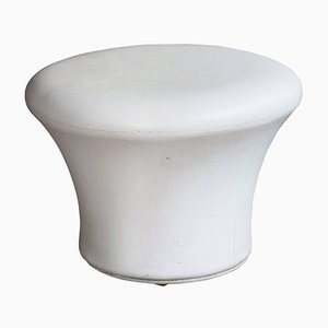 Cream Vinyl Mushroom Stool by Pierre Paulin for Artifort, 1960s