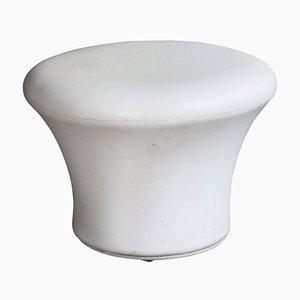 Taburete Mushroom de vinilo en color crema de Pierre Paulin para Artifort, años 60
