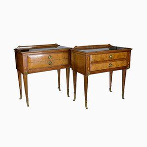 Italian Him & Her Bedside Tables, 1960s, Set of 2