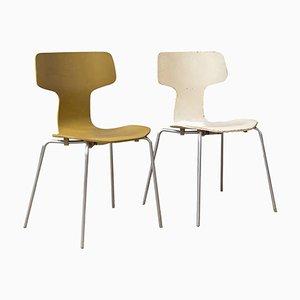 Modell 3103 Esszimmerstühle von Arne Jacobsen, 1957, 2er Set