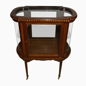 Small Louis XVI Display Case on Casters, 1960s