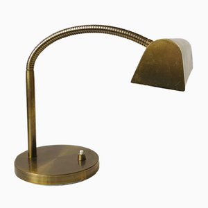 Danish Mid-Century Bankers Desk Lamp in Brass from E. S. Horn, 1950s