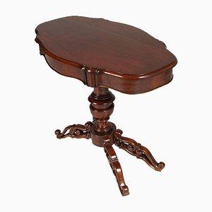 Mesa de comedor barroca antigua de nogal tallado de Cucchi & Sola