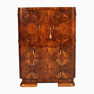 Art Deco Burl Walnut Cabinet from Cantu, 1930s