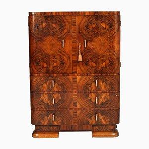 Mueble Art Déco de madera nudosa de nogal, años 30