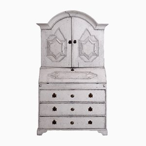 Swedish Two-Parts Secretaire with Several Inside Drawers, 1750s