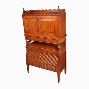 Antique Edwardian Oak Secretaire