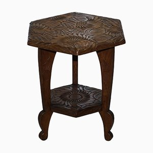 Liberty Carved Jardiniere Plant Stand, 1900s