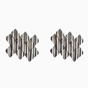 Mid-Century Steel Sconces Goffredo Reggiani for Zeroquattro, 1960s, Set of 2