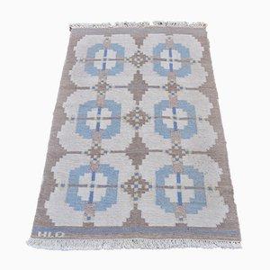 Schwedischer Rollakan Teppich von HLO, 1960er