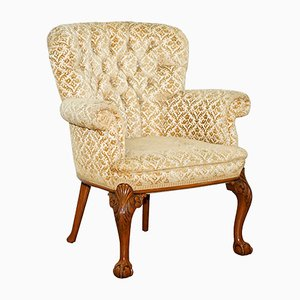 Walnut George II Style Chesterfield Armchair, 1840s