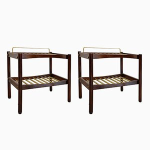 Mid-Century Luggage Stands, Set of 2