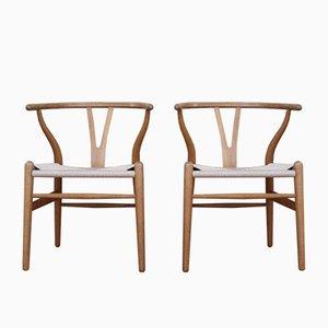 CH24 Wishbone Stühle aus Eiche von Hans J. Wegner für Carl Hansen & Søn, 1960er