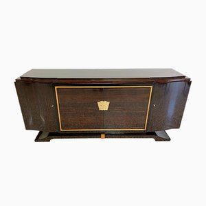 French Art Deco Macassar Sideboard, 1940s