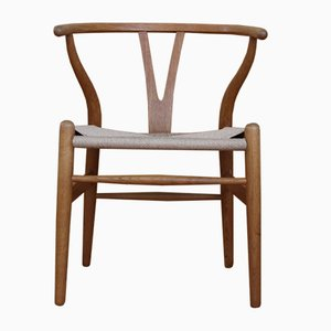 Mid-Century Oak CH24 Wishbone Chair by Hans J. Wegner for Carl Hansen & Søn