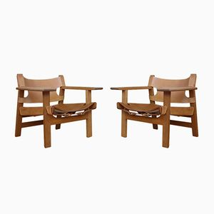 Model 2226 Spanish Chairs by Borge Mogensen for Fredericia, 1958, Set of 2